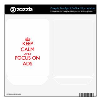 Keep calm and focus on ADS FreeAgent GoFlex Skin
