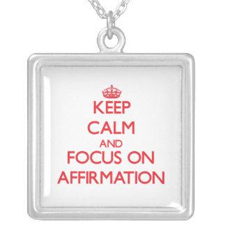 Keep calm and focus on AFFIRMATION Custom Jewelry