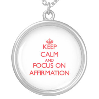 Keep calm and focus on AFFIRMATION Jewelry