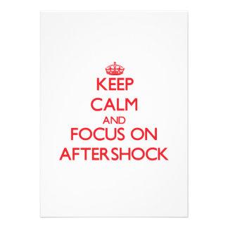 Keep calm and focus on AFTERSHOCK Custom Invitation