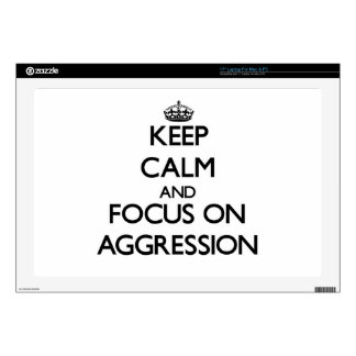 "Keep Calm And Focus On Aggression 17"" Laptop Skins"