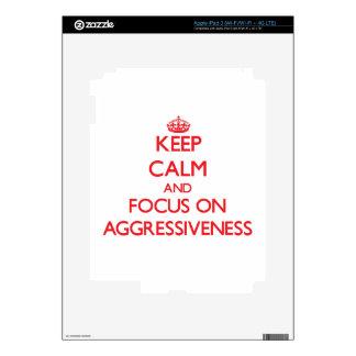 Keep calm and focus on AGGRESSIVENESS Skin For iPad 3