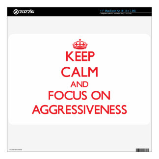 Keep calm and focus on AGGRESSIVENESS MacBook Air Skins