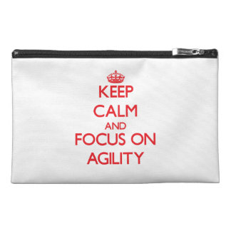 Keep calm and focus on AGILITY Travel Accessories Bag