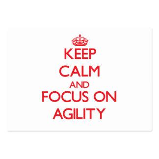 Keep calm and focus on AGILITY Business Card Templates