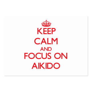 Keep calm and focus on Aikido Business Card