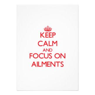 Keep calm and focus on AILMENTS Custom Invite