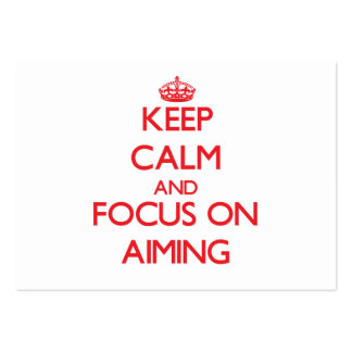 Keep calm and focus on AIMING Large Business Cards (Pack Of 100)