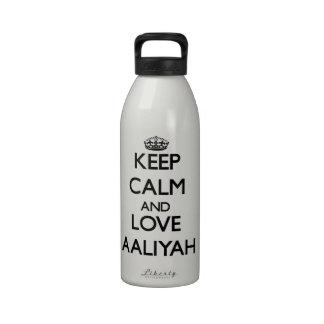 Keep calm and focus on ALARMISTS Water Bottle