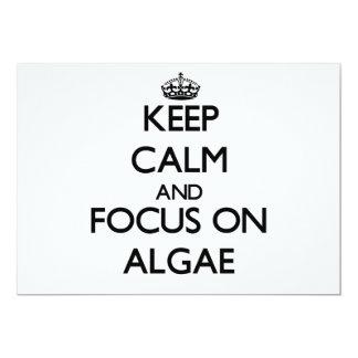 """Keep Calm And Focus On Algae 5"""" X 7"""" Invitation Card"""