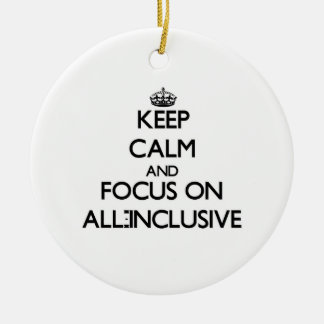 Keep Calm And Focus On All-Inclusive Christmas Ornaments