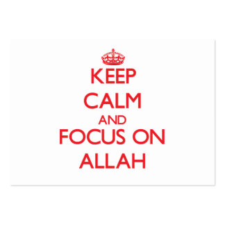 Keep calm and focus on ALLAH Business Card Template