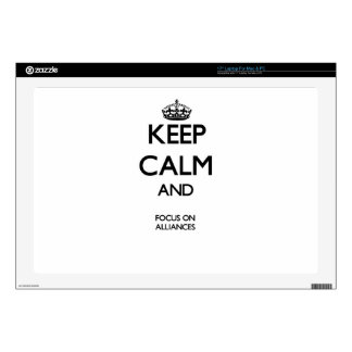 """Keep Calm And Focus On Alliances Decal For 17"""" Laptop"""