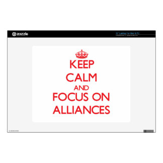 Keep calm and focus on ALLIANCES Laptop Decal