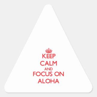 Keep calm and focus on ALOHA Sticker