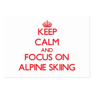 Keep calm and focus on Alpine Skiing Business Card Templates