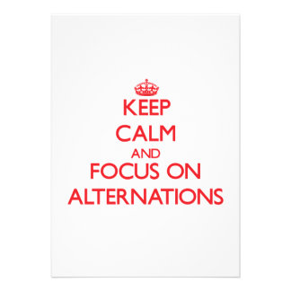 Keep calm and focus on ALTERNATIONS Announcement