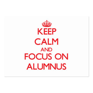 Keep calm and focus on ALUMNUS Business Card Template