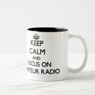 Keep calm and focus on Amateur Radio Coffee Mugs