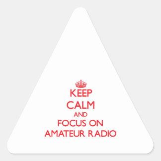 Keep calm and focus on Amateur Radio Triangle Sticker