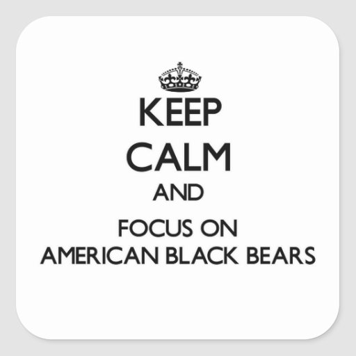 Keep calm and focus on American Black Bears Sticker