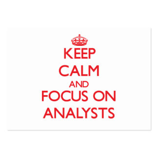 Keep calm and focus on ANALYSTS Large Business Cards (Pack Of 100)