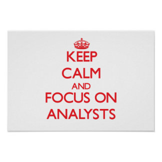 Keep calm and focus on ANALYSTS Poster