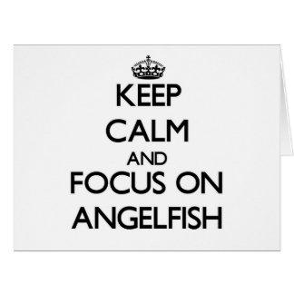 Keep calm and focus on Angelfish Large Greeting Card