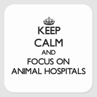 Keep Calm and focus on Animal Hospitals Square Sticker