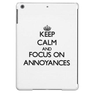 Keep Calm And Focus On Annoyances iPad Air Cover