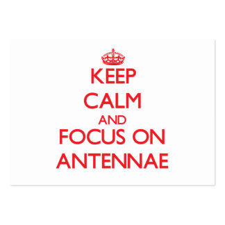 Keep calm and focus on ANTENNAE Large Business Cards (Pack Of 100)