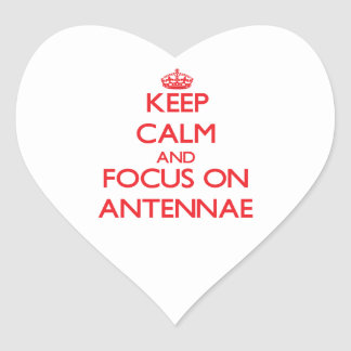 Keep calm and focus on ANTENNAE Heart Sticker
