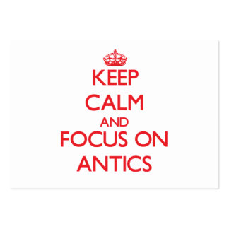 Keep calm and focus on ANTICS Business Card Template