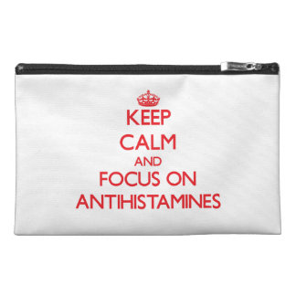 Keep calm and focus on ANTIHISTAMINES Travel Accessory Bags