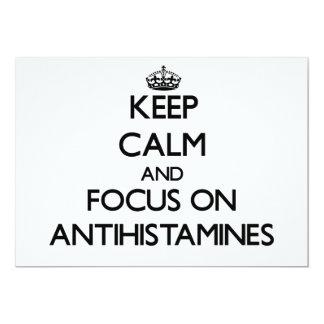 Keep Calm And Focus On Antihistamines Custom Invitations