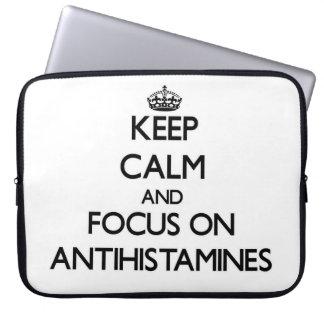 Keep Calm And Focus On Antihistamines Laptop Computer Sleeve
