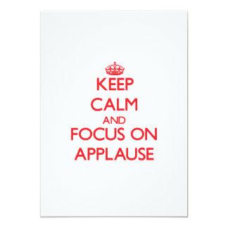 Keep calm and focus on APPLAUSE Card