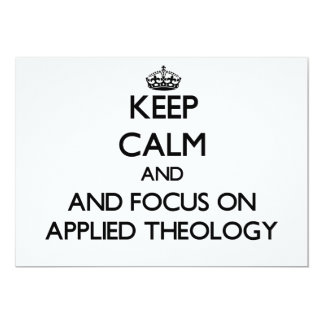 Keep calm and focus on Applied Theology Cards
