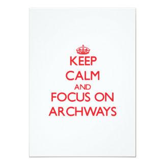 Keep calm and focus on ARCHWAYS Card