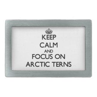 Keep calm and focus on Arctic Terns Belt Buckles