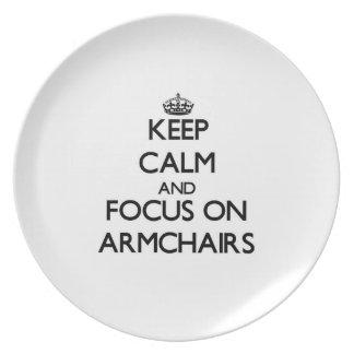 Keep Calm And Focus On Armchairs Plates