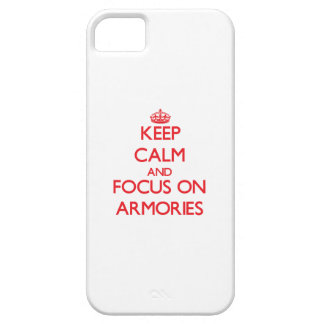 Keep calm and focus on ARMORIES iPhone 5 Cover