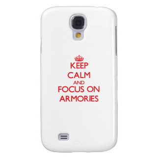 Keep calm and focus on ARMORIES Samsung Galaxy S4 Covers