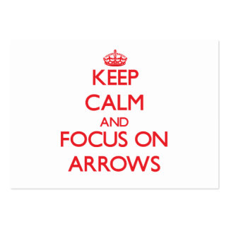 Keep calm and focus on ARROWS Large Business Cards (Pack Of 100)