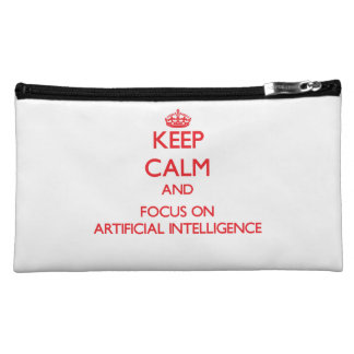 Keep calm and focus on ARTIFICIAL INTELLIGENCE Makeup Bag