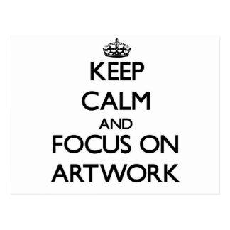 Keep calm and focus on Artwork Postcard