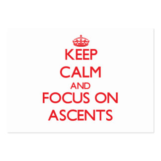 Keep calm and focus on ASCENTS Business Card Template