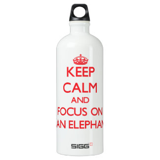 Keep calm and focus on Asian Elephants SIGG Traveler 1.0L Water Bottle