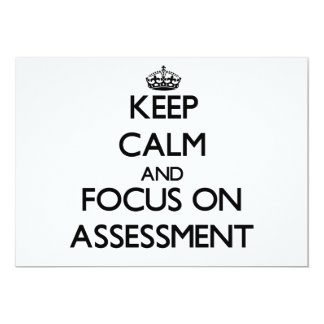 Keep Calm And Focus On Assessment Custom Announcements