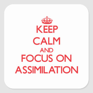 Keep calm and focus on ASSIMILATION Stickers